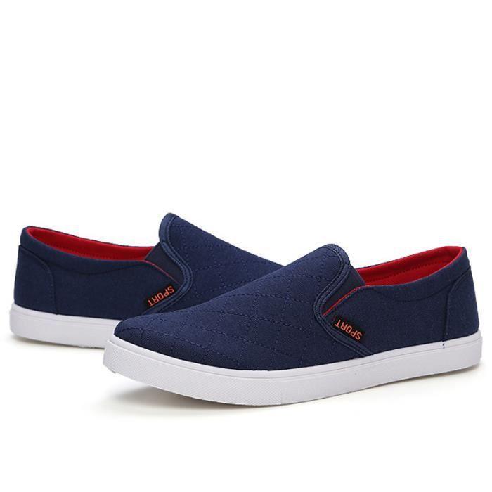 Chaussures En Toile Hommes Basses Quatre Saisons Durable FXG-XZ114Bleu41 kSYGr