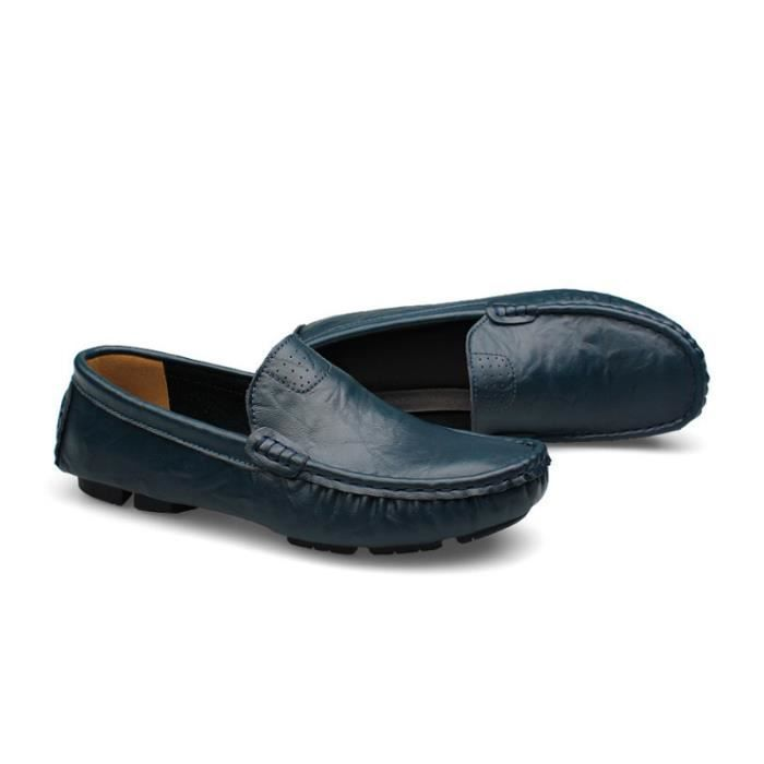 Mocassin Hommes Mode Chaussures Grande Taille Chaussures BYLG-XZ73Bleu48