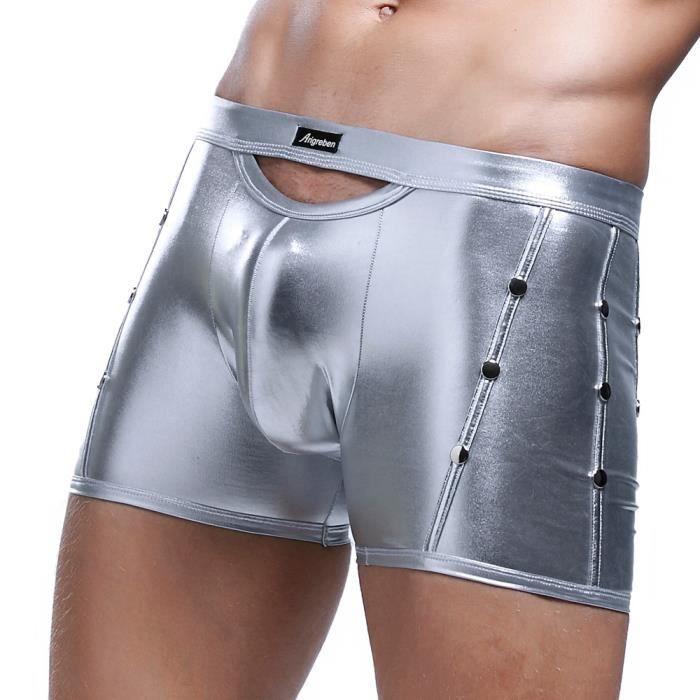 Seasondu Pantalons Trunks Hommes Shorts vêtements Pour Boxer Cuir Faux Briefs Sous Mode qqw7FB