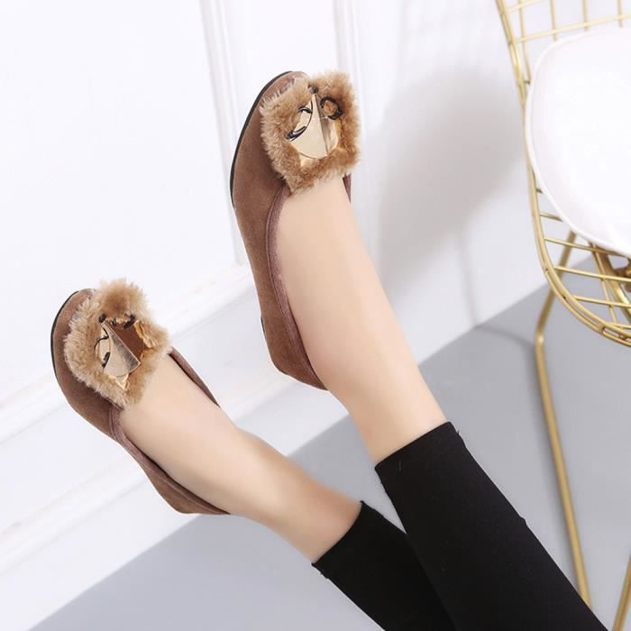 Flats Femmes Chaussures Comfy Chaussures Fox Soft Chaud Slip-On Chaussures bateau décontracté @XMM71226531KH zLhBsSY