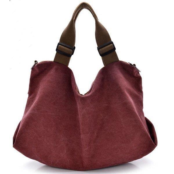 SBBKO2005Toile portable tote sacs à main fleur design épaule Sacs bandoulière sacs big bag Orange L