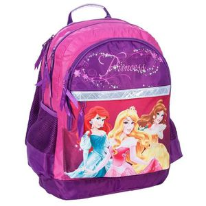 CARTABLE Sac à dos Princesse Disney 42 CM Violet - 2 Cpt