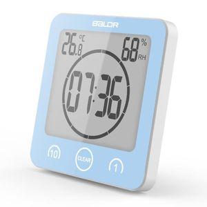 HORLOGE - PENDULE Hygromètre thermomètre étanche avec écran LCD Suck