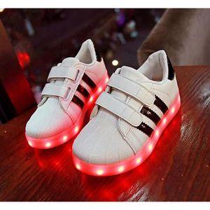 BASKET Nouvelle Arrivee LED Éclairage Superstar Chaussure