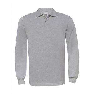POLO Polo homme manches longues - PU414 - gris heather ...
