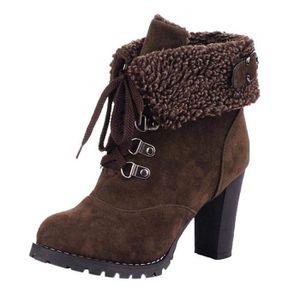 BOTTE Bottes Botte De Pluie Femme High Heels Boots Botti