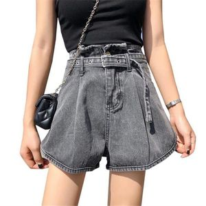 Short en jean taille haute femme LULUT, ceinture