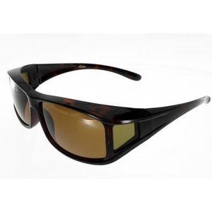 LUNETTES DE SOLEIL FIT OVER, sur-lunettes ecaille, taille M, polarise a82935a682cd