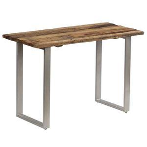 TABLE À MANGER SEULE Table de salle à manger Bois de traverses et acier