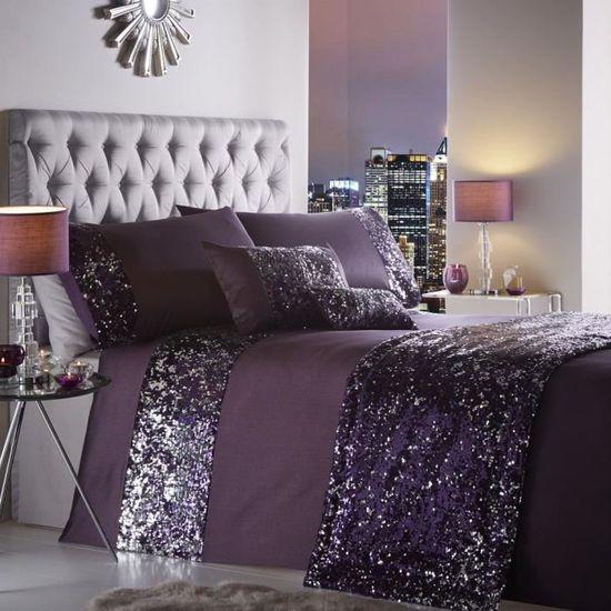 Parure de lit   housse de couette taie d'oreiller   avec