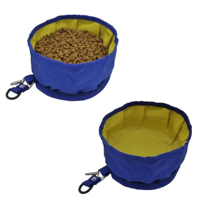 Pet Dog Travel Collapsible Bowls Oxford Fabric Waterproof Portable Foldable Food 3dmlbr