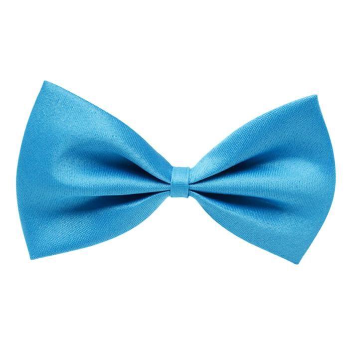 5fa5e62fc8429 Noeud papillon à la mode Réglable Couleur unie Bowknot Neck Bowtie pré-noué  Bowtie pour les enfants Bleu