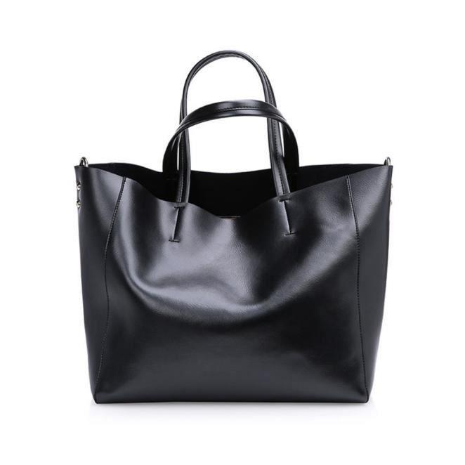 HFT70114029BK nouveau sac à main en cuir de mode grand sac à bandoulière en cuir femme