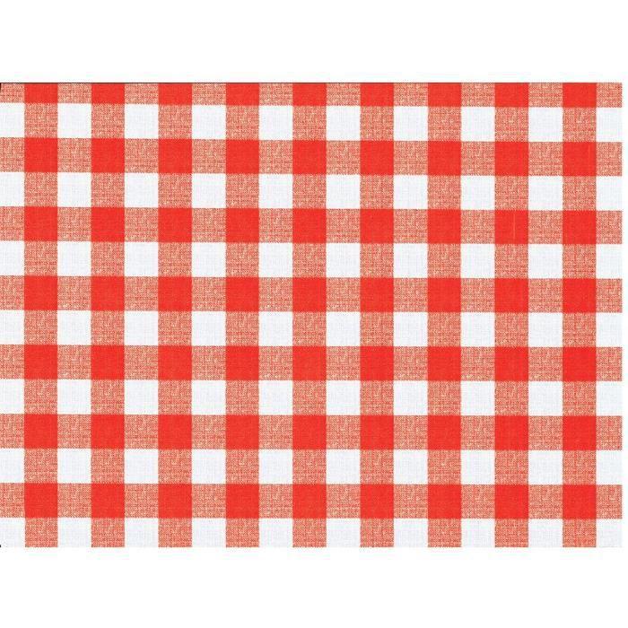 Nappe flanelle Vichy rouge Long.20m Larg.1,4m - Achat / Vente ...