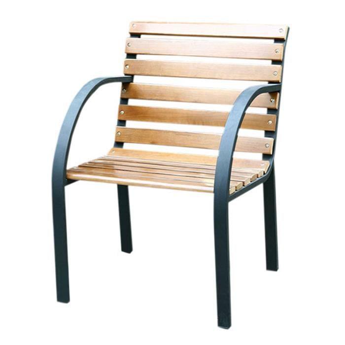 Fauteuil de jardin Granada, bois + métal, teck, 55x62x80cm - Achat ...