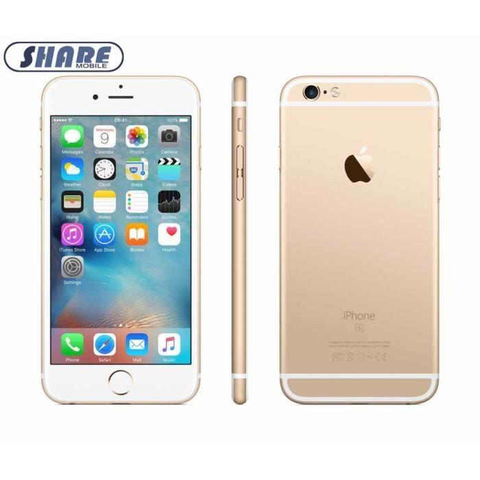 APPLE IPhone 6s 32Go Or Smartphone Débloqué Reconditionné-(Share mobile) 5cc577523390