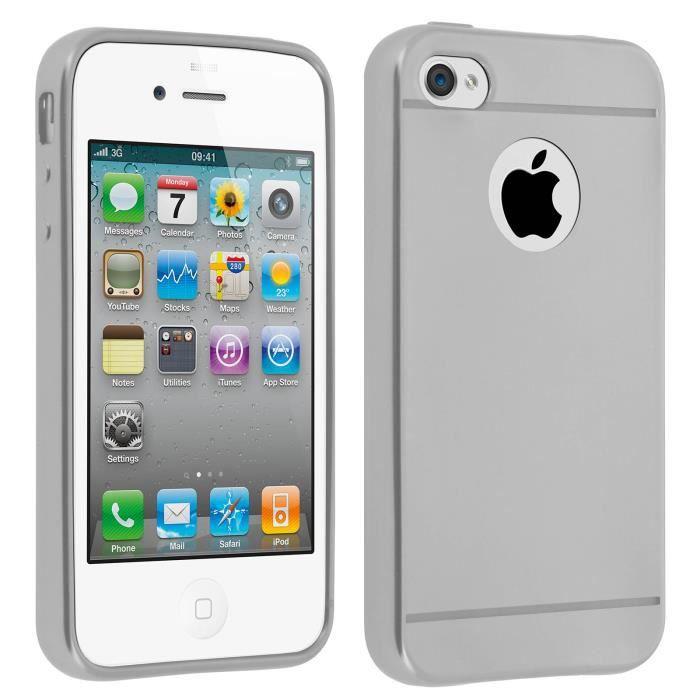 coque iphone 4 grise