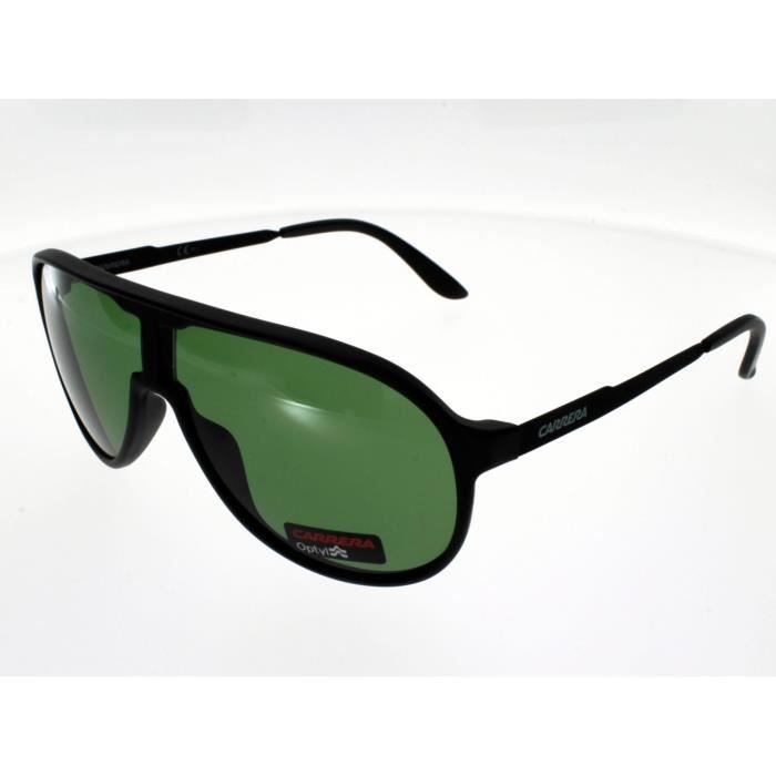 a2a6d8eaac8a3 CARRERA New Champion Taille M Guy Black verres verts Homme Indice 2 ...
