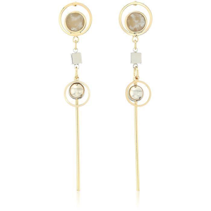 Kinetic Gold-rhodium Drop Earrings IYXRH