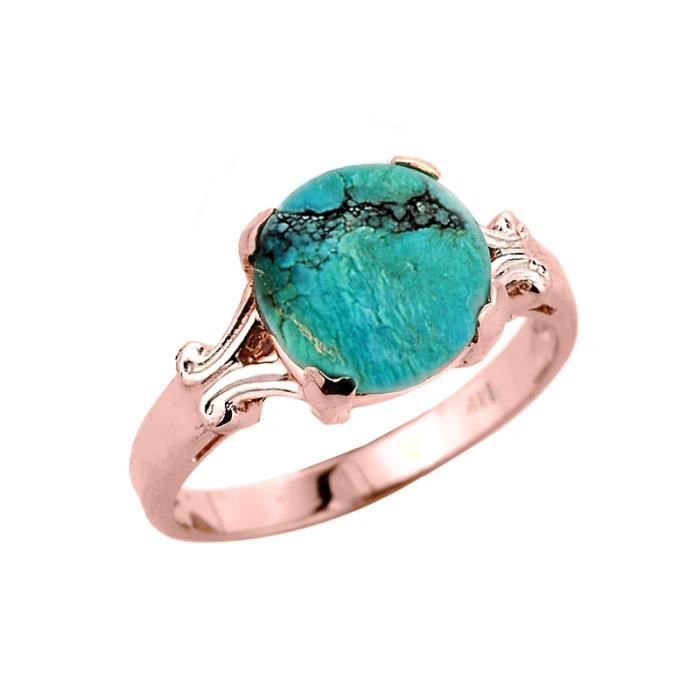 Bague Femme 10 ct Or rose 471/1000Turquoise