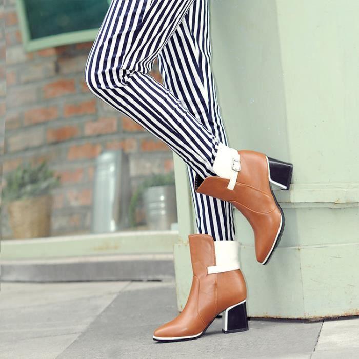 bottes courtes-Femmes de Colourepais Bottes t...