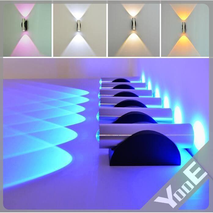 2 w 2 led lampe applique murale int rieur avec achat vente 2 w 2 led lampe applique. Black Bedroom Furniture Sets. Home Design Ideas