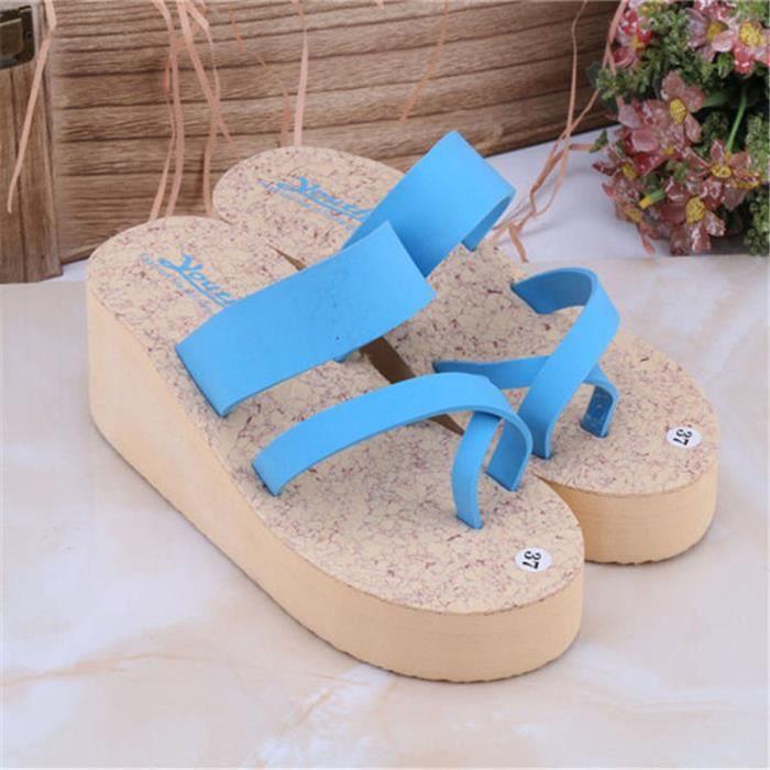Chaussures Pour Femmes Hauteur Croissante Rous D'aération La Respirabilité Confortable Pantoufle Été Slipper Plateforme 2017