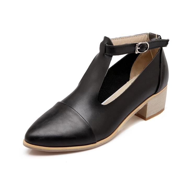 Femme Chaussures élégante Pointue En PU Cuir Toutes les pointures de la 34 à la 42 8zFVxkx