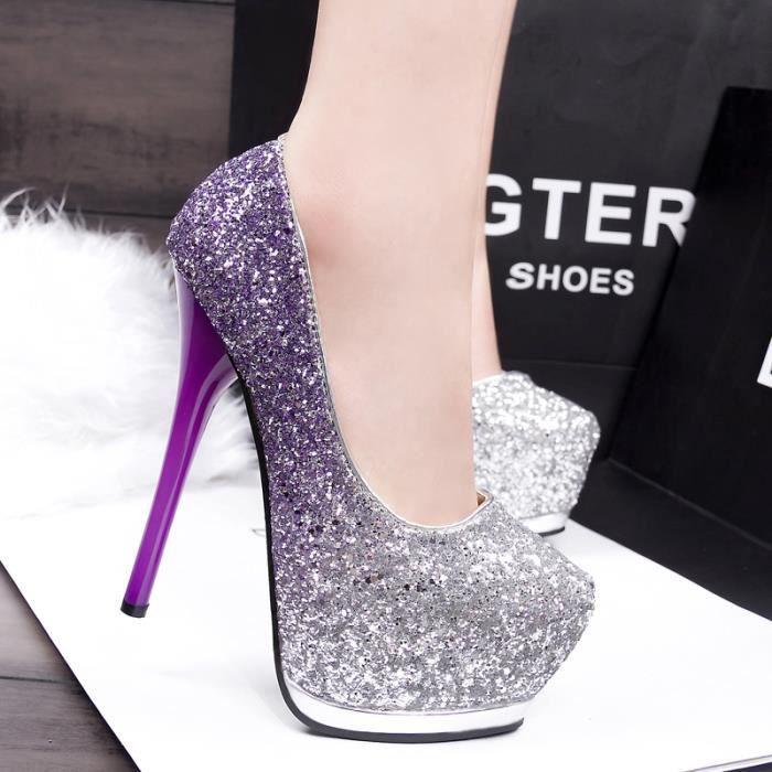 Nouvelle Mode Sexy Femmes Pompes Plate-Forme Haute Talons chaussures pôle danse chaussures étanche 14.5 cm