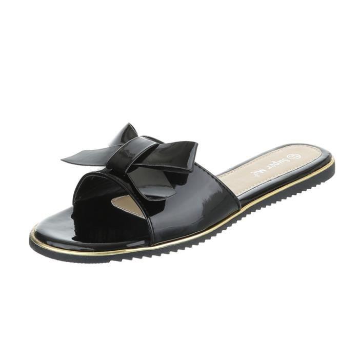 Femme chaussures sandales mulets noir 40