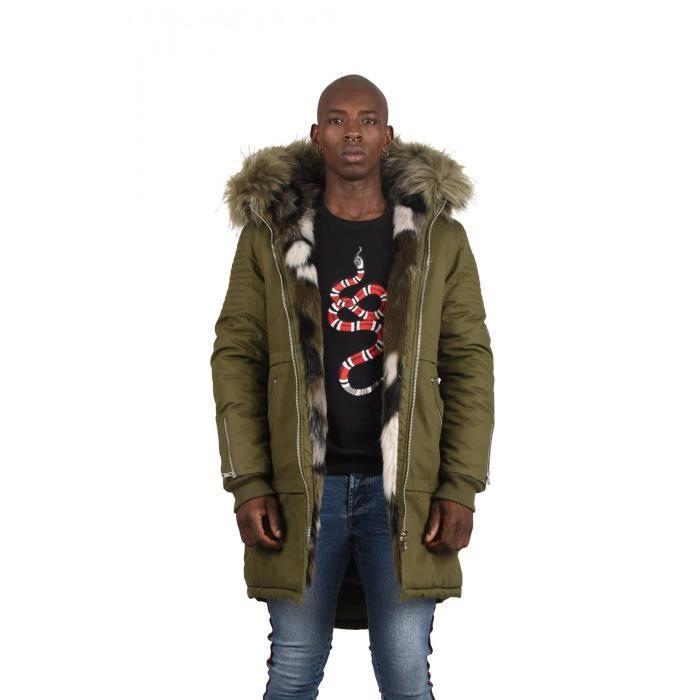 Homme Fourrure En Paris Parka Parka Coton Color H29WEeDIY