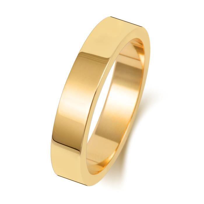 Bague de Mariage-Alliance Homme-Femme 4mm Plat Or 375-1000 31061