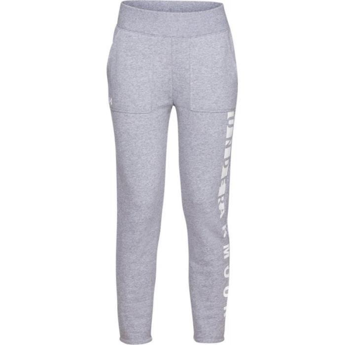 Pantalon de Jogging Under Armour Rival toison Gris pour Femme ... 3b8035af9eb