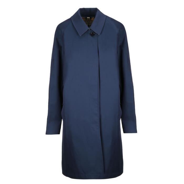 BURBERRY FEMME 8007009 BLEU COTON MANTEAU Bleu Bleu - Achat   Vente ... e3647792038