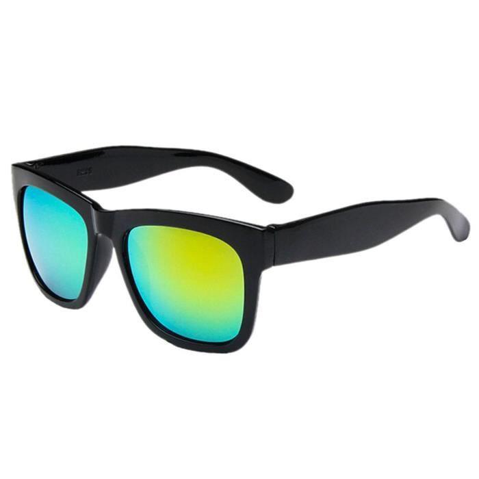 jaune en air soleil vert Unisexe de avec cadre sport lunettes de plein carre noir q0Uqx7X1