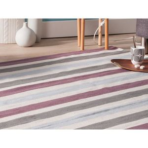 tapis deco multicolore en coton achat vente tapis deco. Black Bedroom Furniture Sets. Home Design Ideas
