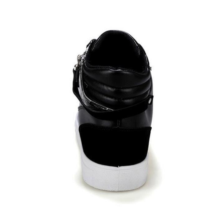 Baskets Montantes PU Serpent Blanc Noir 5FoAKrQw