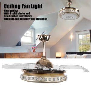 VENTILATEUR DE PLAFOND BELLE TECH Ventilateur de plafond à LED 42 po avec