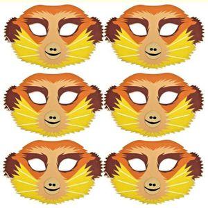 MASQUE - DÉCOR VISAGE Masques en mousse 6 Meerkat - Masques d'animaux Sa