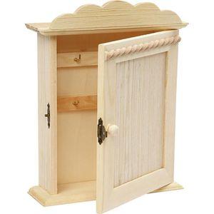 ARMOIRE - BOITE A CLÉ Armoire à clés en bois avec 6 crochets pour clés.