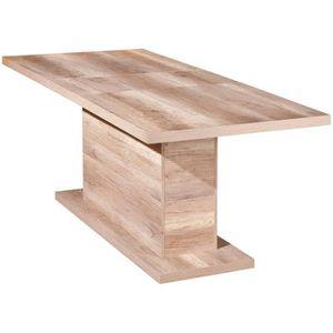 TABLE À MANGER SEULE Table à manger chêne sauvage décor extensible, Dim