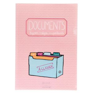Protège-document Protège-Documents A4 DOCUMENTS HYPER MEGA IMPORTAN 3d34060f766