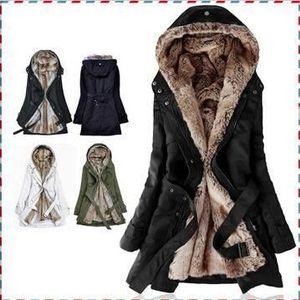 VESTE Long manteau femme veste caban blouson noir