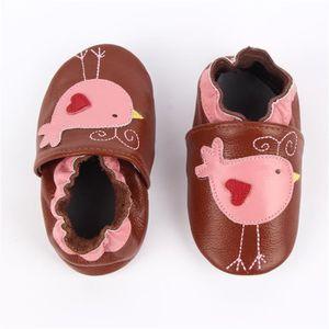 CHAUSSON - PANTOUFLE Chaussons Bébé Cuir Souple Chaussures Premiers Ois