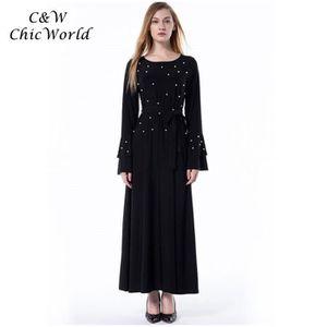 2835f0c8cf817b Robe noire manche longue grande taille - Achat / Vente pas cher