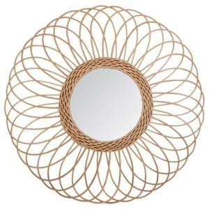 Miroir en rotin - Achat   Vente pas cher 4a4212cc0ae6