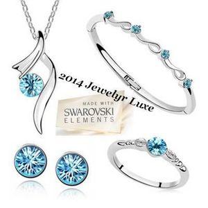 PARURE Parure Bijoux Swarovski elements Bracelet + Collie