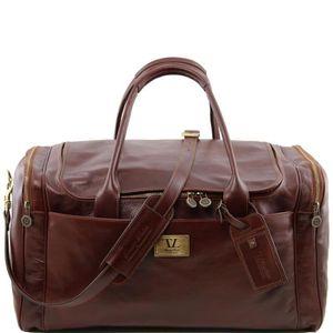 Tuscany Leather - Berlin - Sac de voyage en cuir avec boucles - Grand modèle Marron foncé - TL1013/5 sAiGZRth