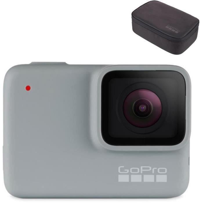 GOPRO HERO7 WHITE Action Cam - Blanc + GOPRO AKTTR-001 Kit caméra Travel Kit
