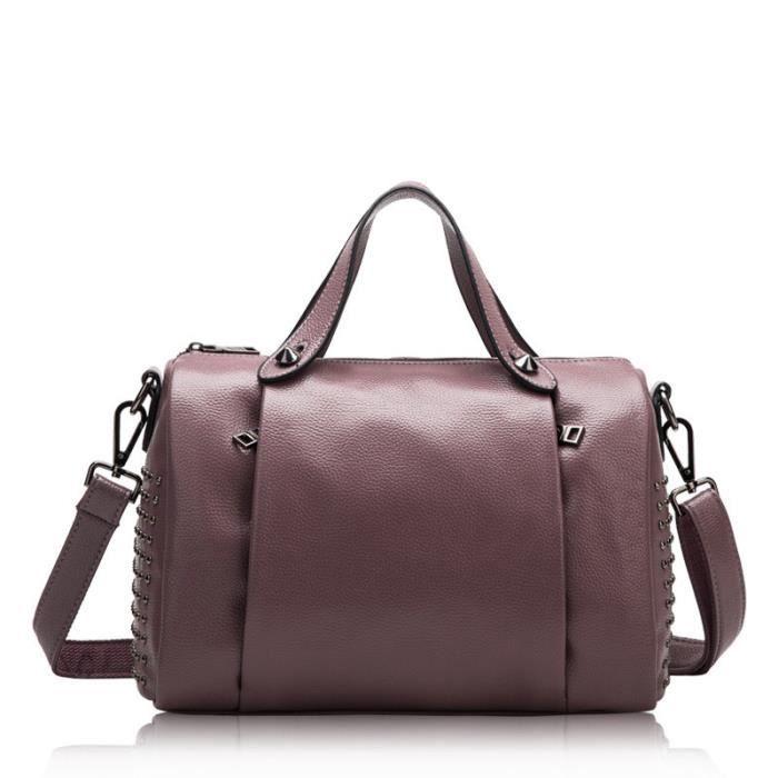 2018 printemps et en été nouveau cuir sac à main rivet en cuir oreiller sac épaule portable Messenger bag
